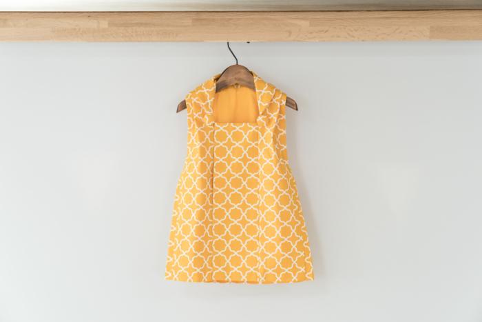 七五三被布パターン黄色